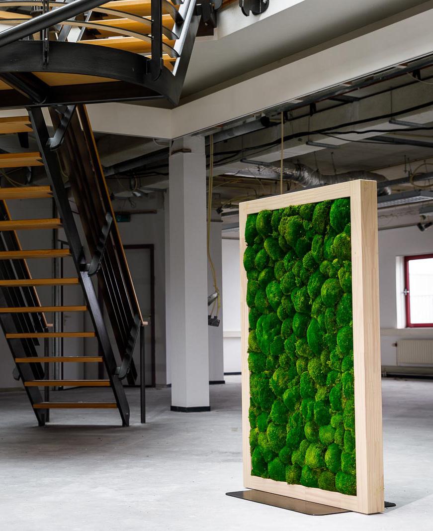 Roomdivider bekleed met duurzaam natuurlijk onderhoudsvrij mos