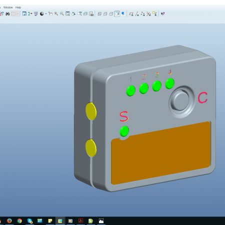 Een nieuw product ontwerpen zoals Kunststof behuizing met elektronica