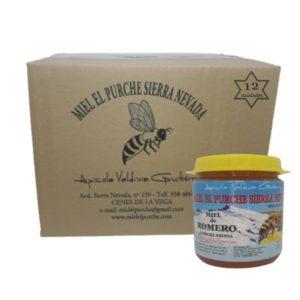 Caja de 12 botes de miel de flores