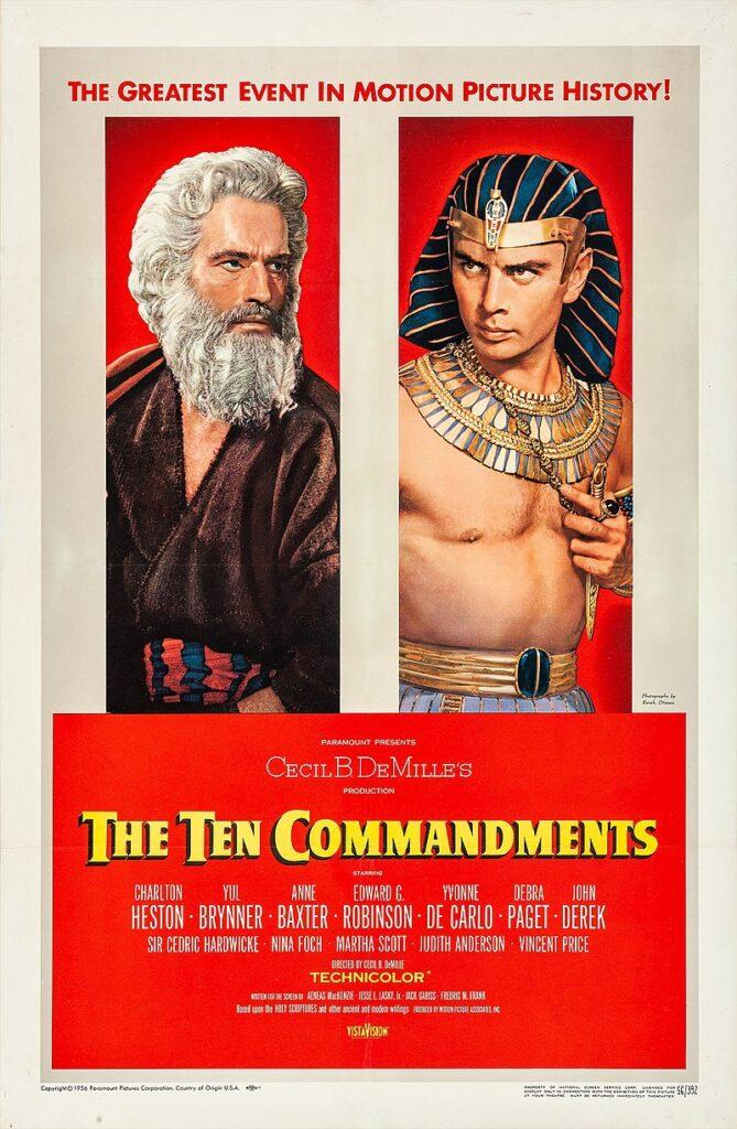Poster de la película Los Diez Mandamientos. La miel está muy presente en los diálogos.