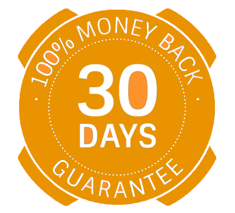 Home 1 product return money back guarantee policy purchasing 30 day guarantee png file orange 1