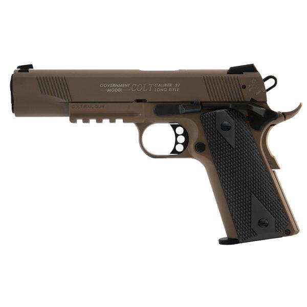 Walther Colt 1911 Government Rail Gun FDE .22lr