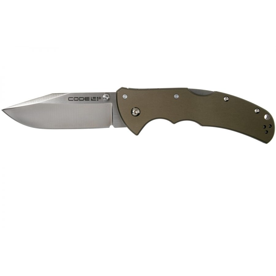 COLD STEEL CODE 4 CLIP POINT 58PS CPM S35VN PLAIN EDGE, ZAKMES