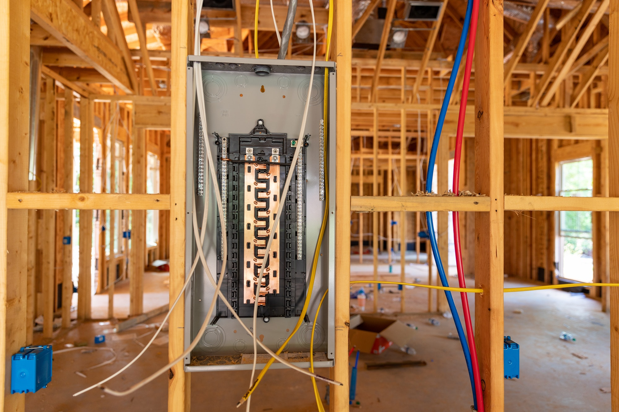 New Circuit Breaker panel in new home construction