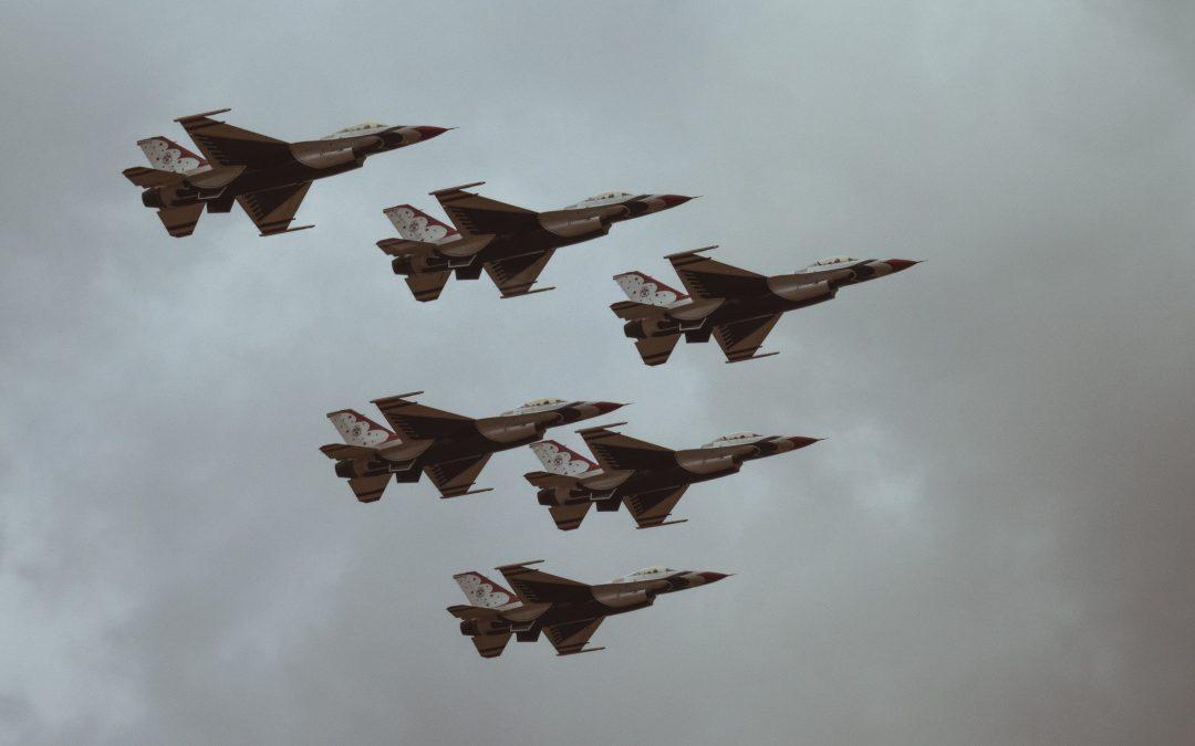 Fighter planes symbolizing war for talent
