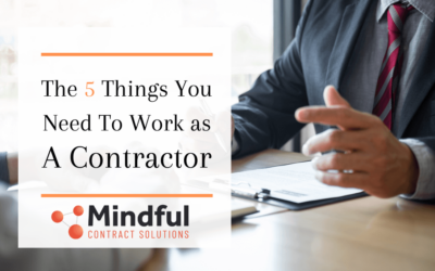 The 5 Things You Need to be a Successful Contractor
