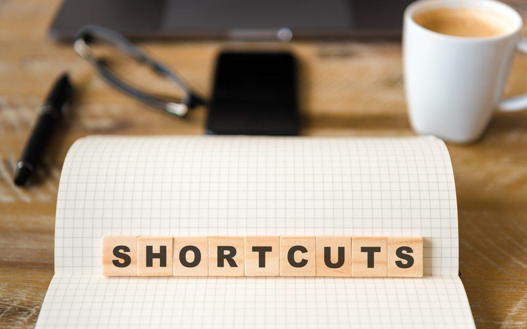 Depicts a shortcut