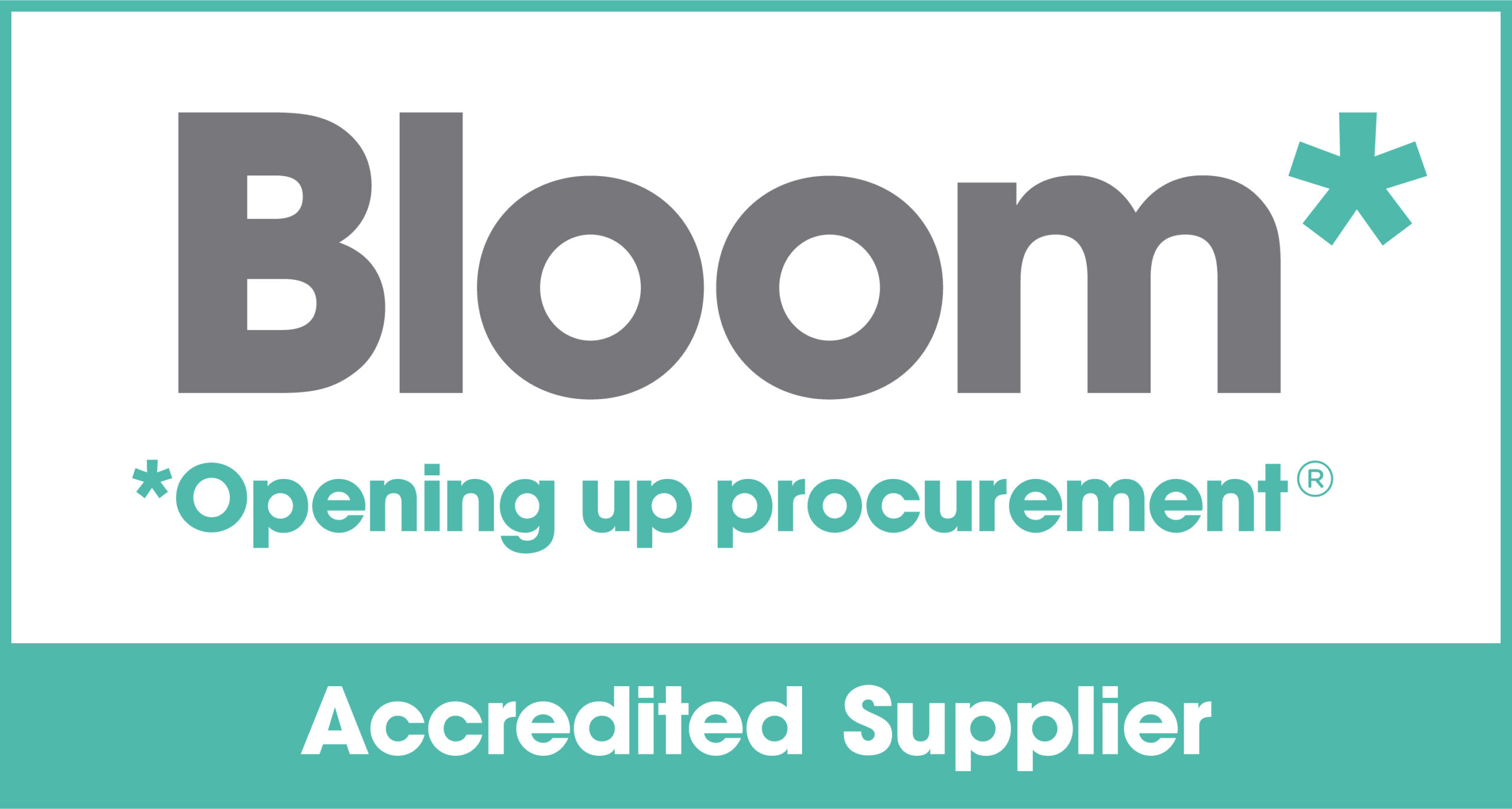 Shows the Bloom Accredited Supplier Logo