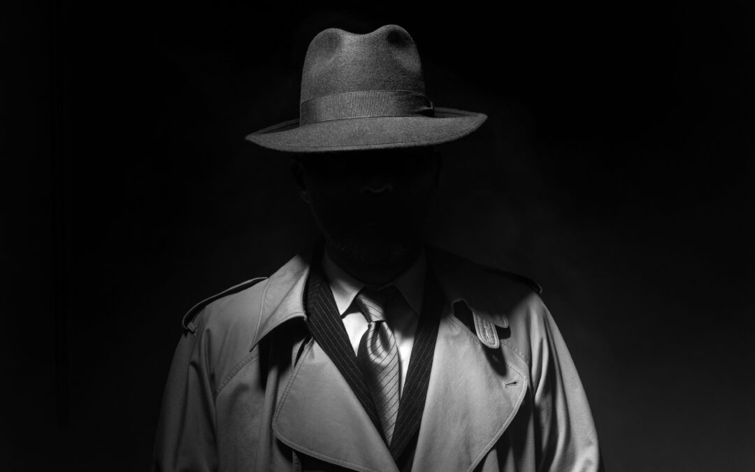 Depicts a detective