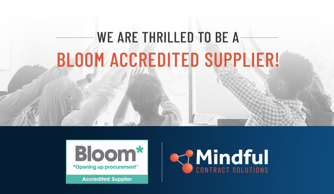 Shows that Mindful are a Bloom Accredited Supplier