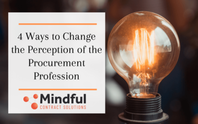 4 Ways to Change the Perception of the Procurement Profession