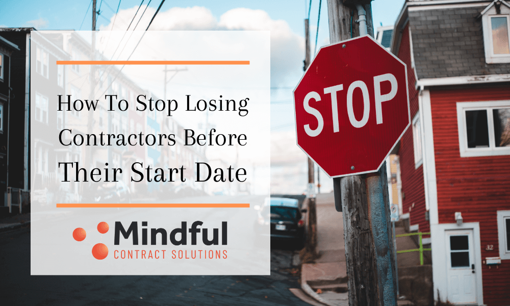 Stop sign for contractors
