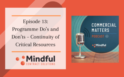 Episode 13: Programme Do's and Don'ts – Continuity of Critical Resources