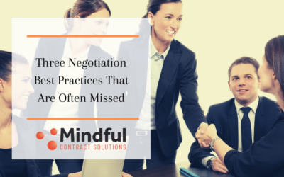 Three Negotiation Best Practices That Are Often Missed