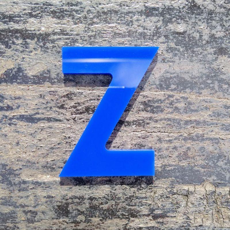 blue acrylic letter cnc