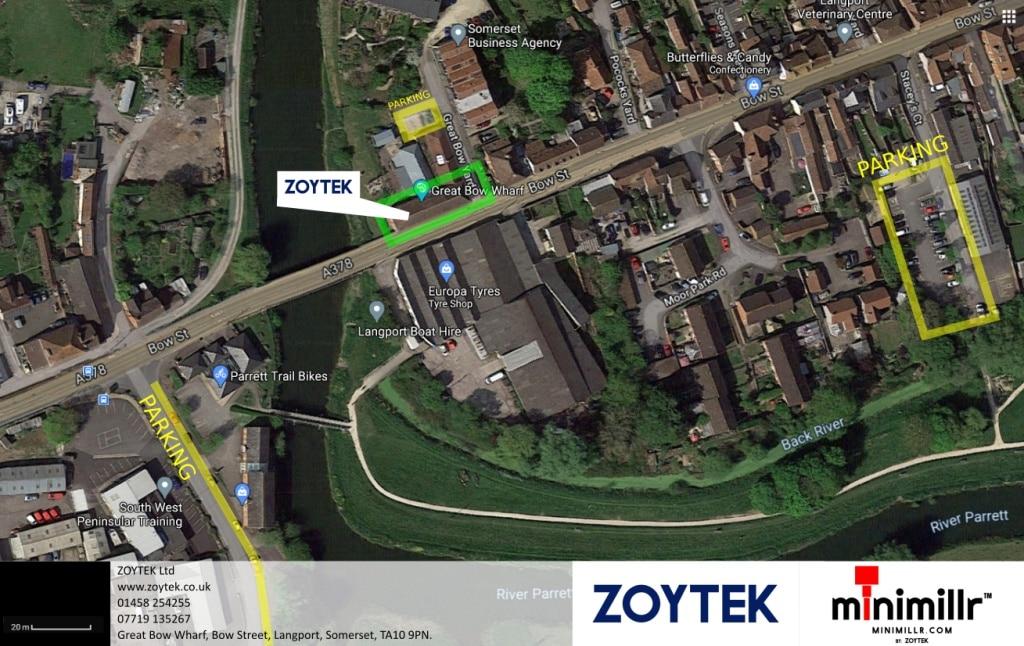 zoytek map location parking TA10 9PN