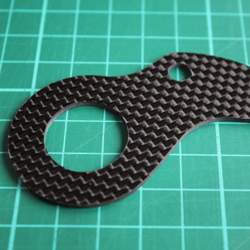 carbon fibre cnc milled from 2mm sheet