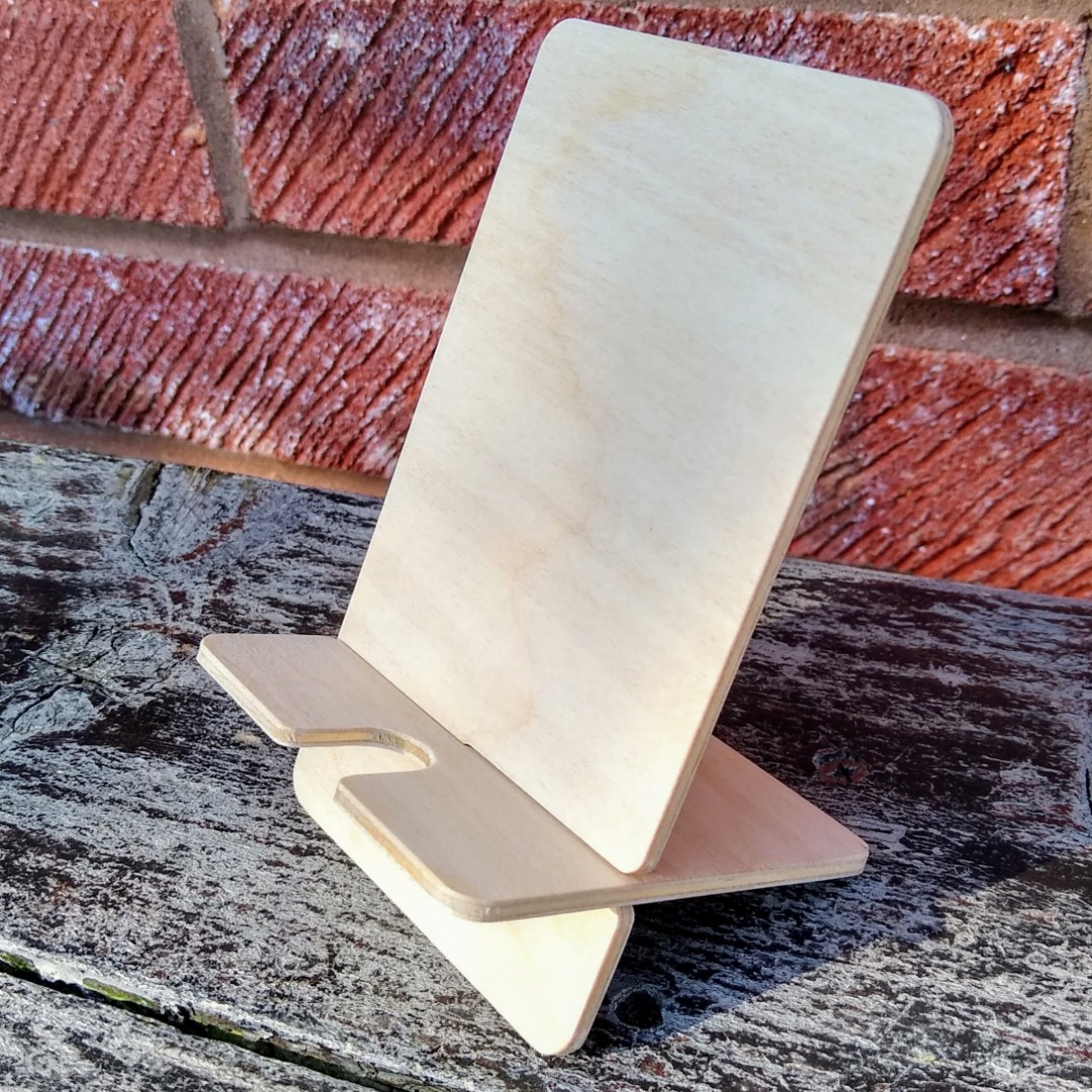 cnc plywood phone stand design