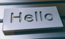cnc hello sign