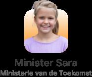 minister sara minister van de toekomst