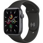 apple-watch-se-44mm-gps-graa-alusvart-sportarmband