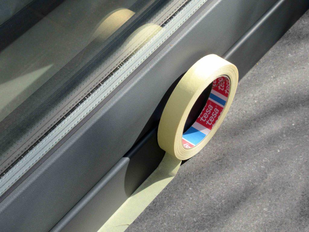 Oppervlakten beschermen met tape