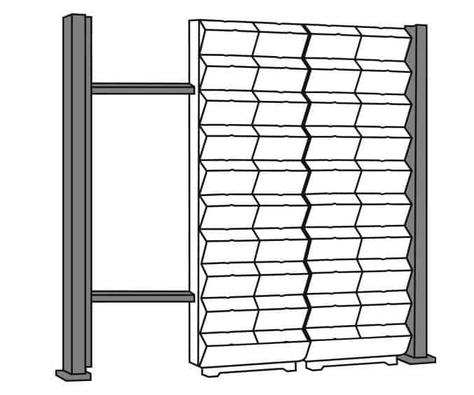 Opbouw groene, verticale wand