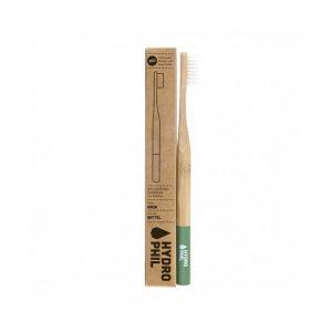 Bambus tandbørste - grøn