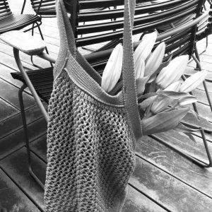 ByLohn - hæklet taske Grå