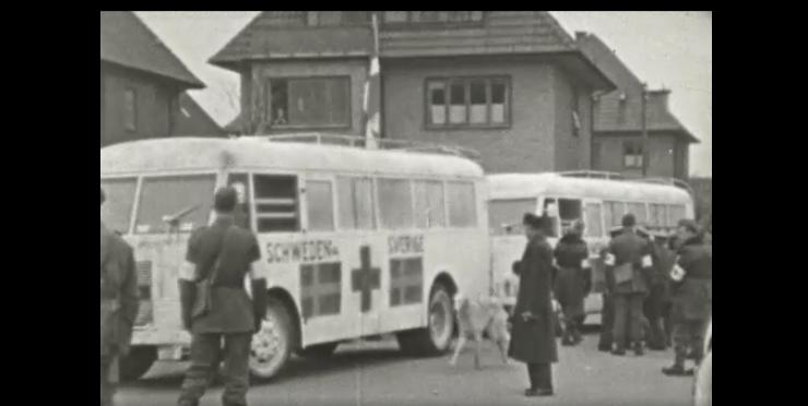 Se de hvide busser ankomme i Odense