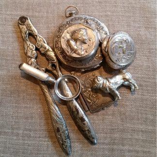 oude en antieke verzilverde verzamelobjecten