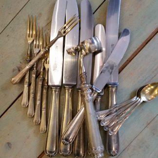 oud en antiek zilver bestek / eetgerei