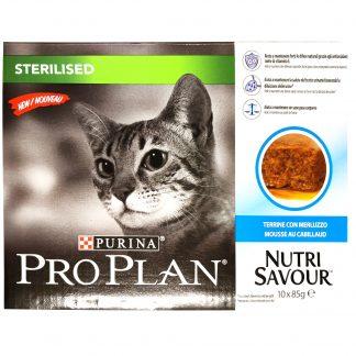 PURINA PRO PLAN Sterilised Cat Cod 10-pack