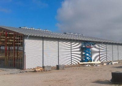 Opførelse af lagerhal ved Davidsen Odense
