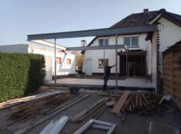 Constructie voor uitbouw