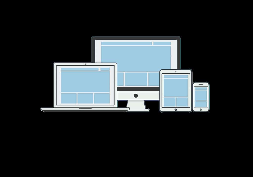 responsive, illustration, page