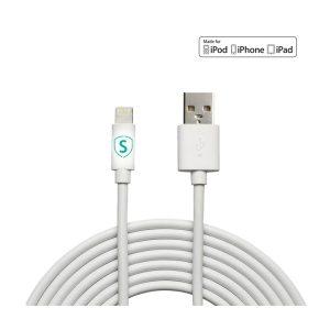 SiGN iPhone Laddare med Lightning kabel 1,5m, 1A Svart