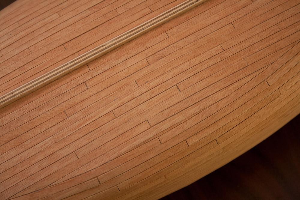 Tweede beplanking onderkant detail