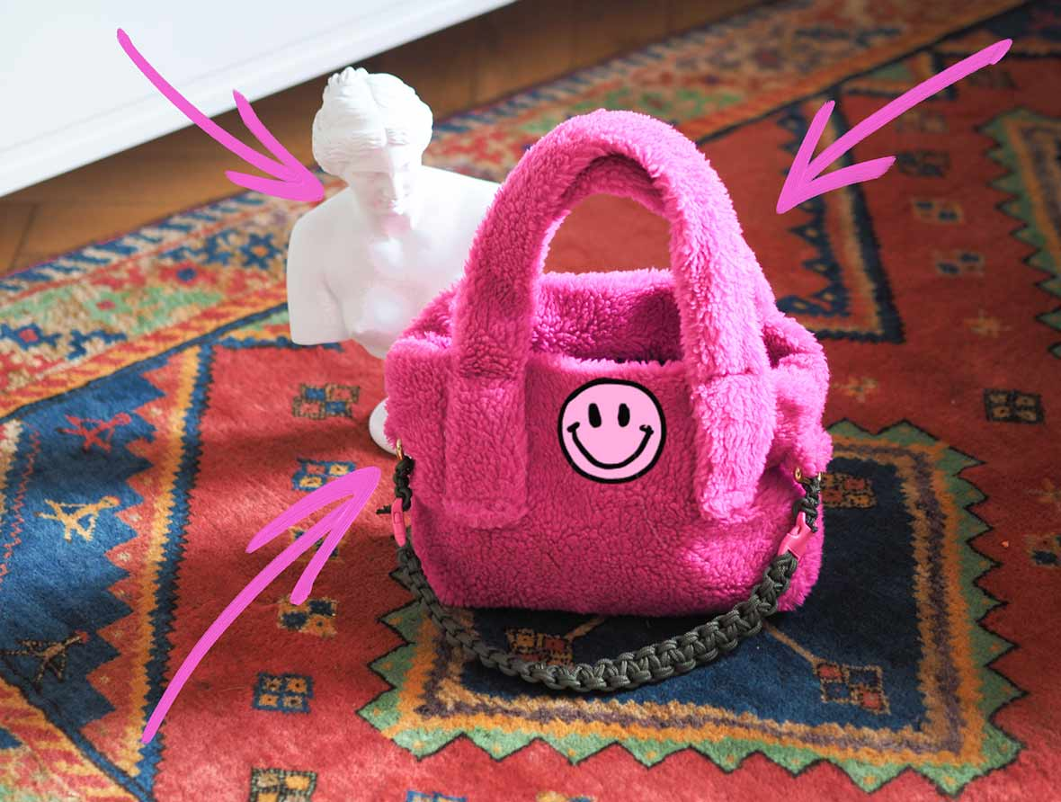 teddy bag in hot pink with venus interior molto on the moltoblog