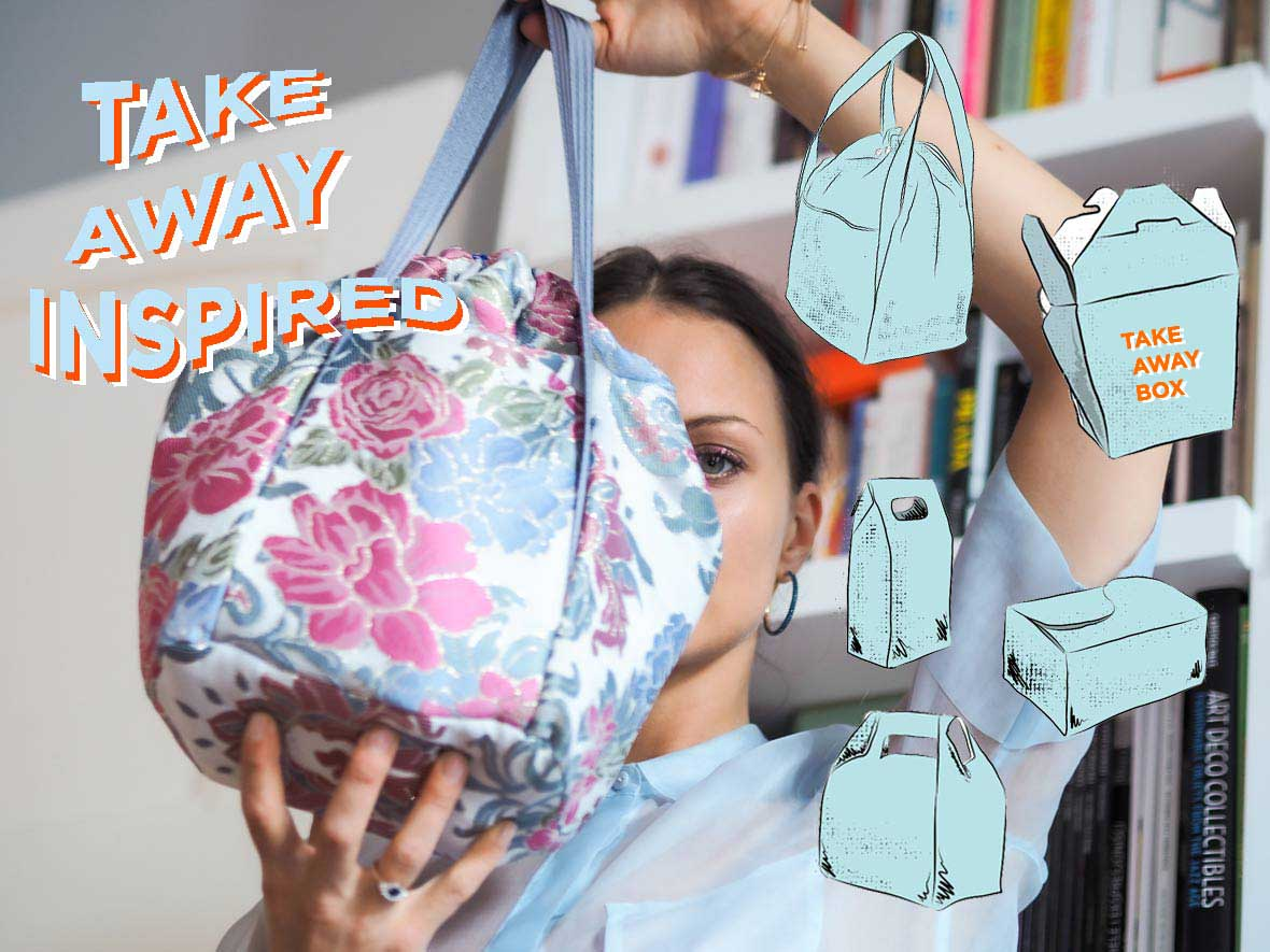 Molto presents her new bag inspired by take away boxes sketched in adobe fresco