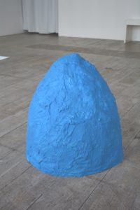 sculpure in plaster with cobalt