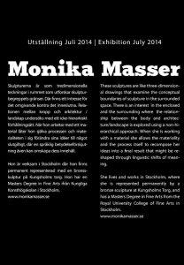 presentationstext angående Monika Massers konstnärskap