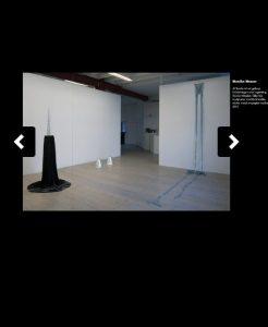 presentation av utställning med skulpturer