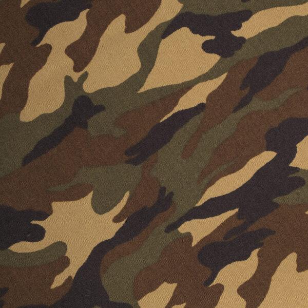 Stoere hondenbandana met army legerprint. Deze bandana voor honden kan heel eenvoudig op de gewenste lengte geknoopt worden. Verkrijgbaar in 6 maten van XS tot XXL, voor zowel de allerkleinsten als de grootsten.