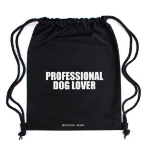 professional dog lover rugzak, gymtas, turnzak, dog mom, leuke tas