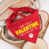 valentijn, don't need a valentine, bandana, hond, bandana hond, hondensjaal