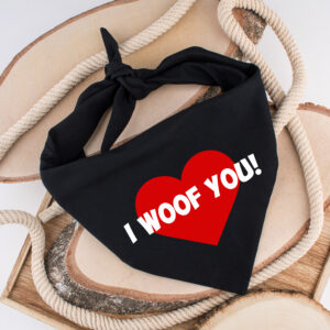 bandana, hond, valentijn, i woof you, hondenbandana, hond bandana, hond, dog bandana