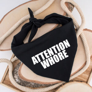 attention whore, bandana, hond, sjaal, accessoire, kledij, fashion