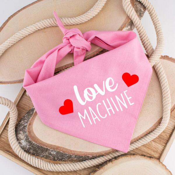 bandana, hond, valentijn, love machine, hondenbandana, hond bandana, hond, dog bandana