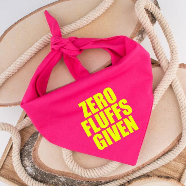bandana, hond, zero fluffs given, hondenbandana, hond bandana, sjaal